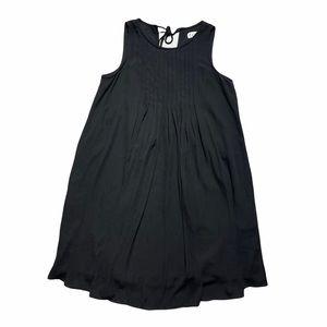 Nanette Lepore Black Pleated Bust Drop Waist Dress